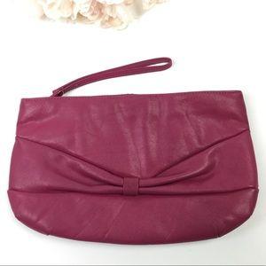 Rose/pink vintage large clutch wristlet bag purse